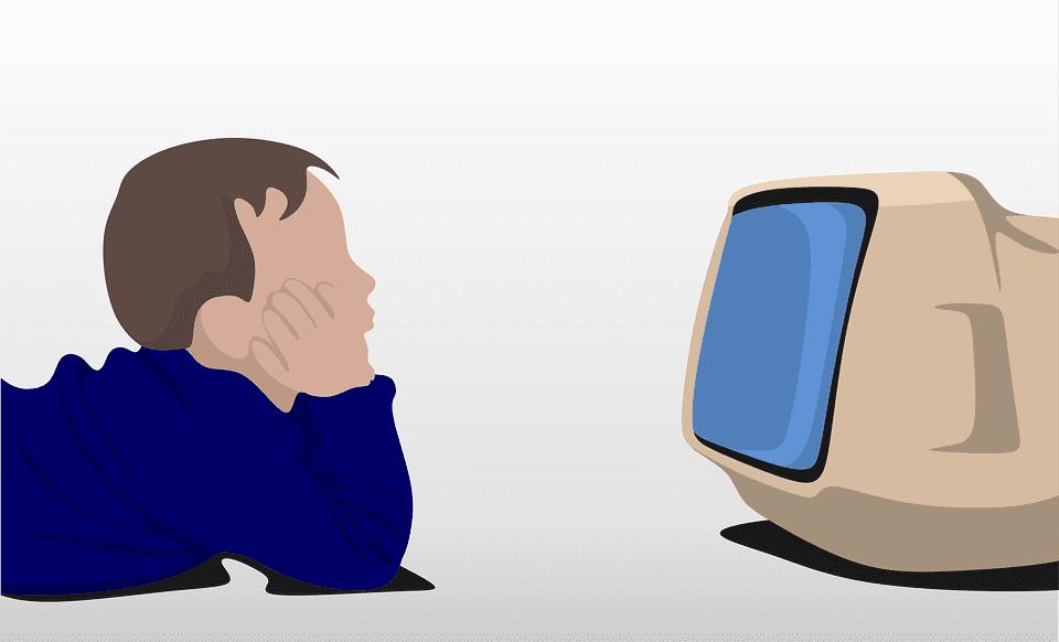Kind sieht fern